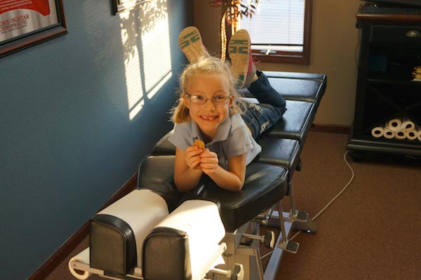 Chiropractic Glen Carbon IL Child Preparing for Adjustments