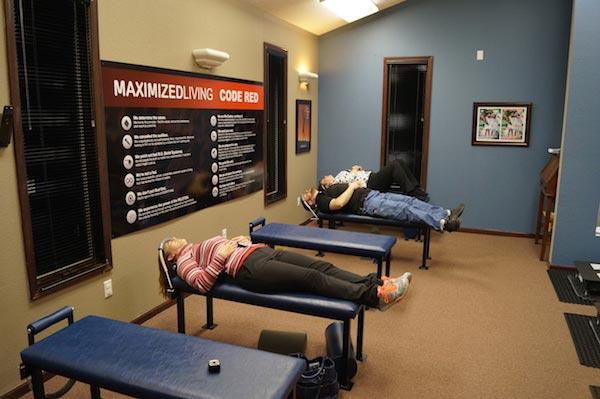 Chiropractic Glen Carbon IL Patients Receiving Treatment